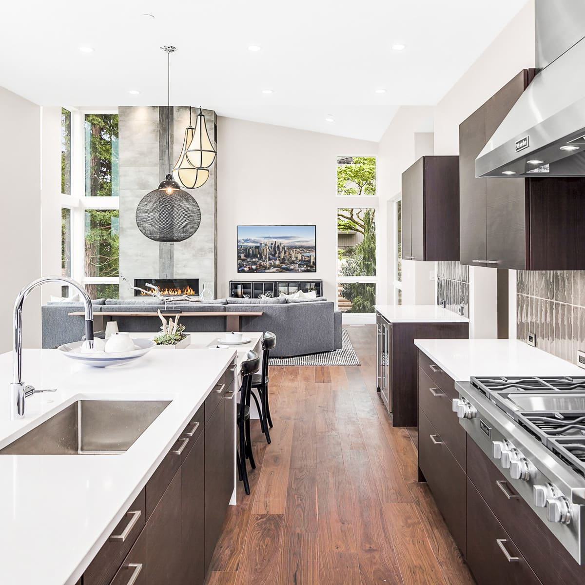 elegant and modern homes of the Summerwell development on Mercer Island