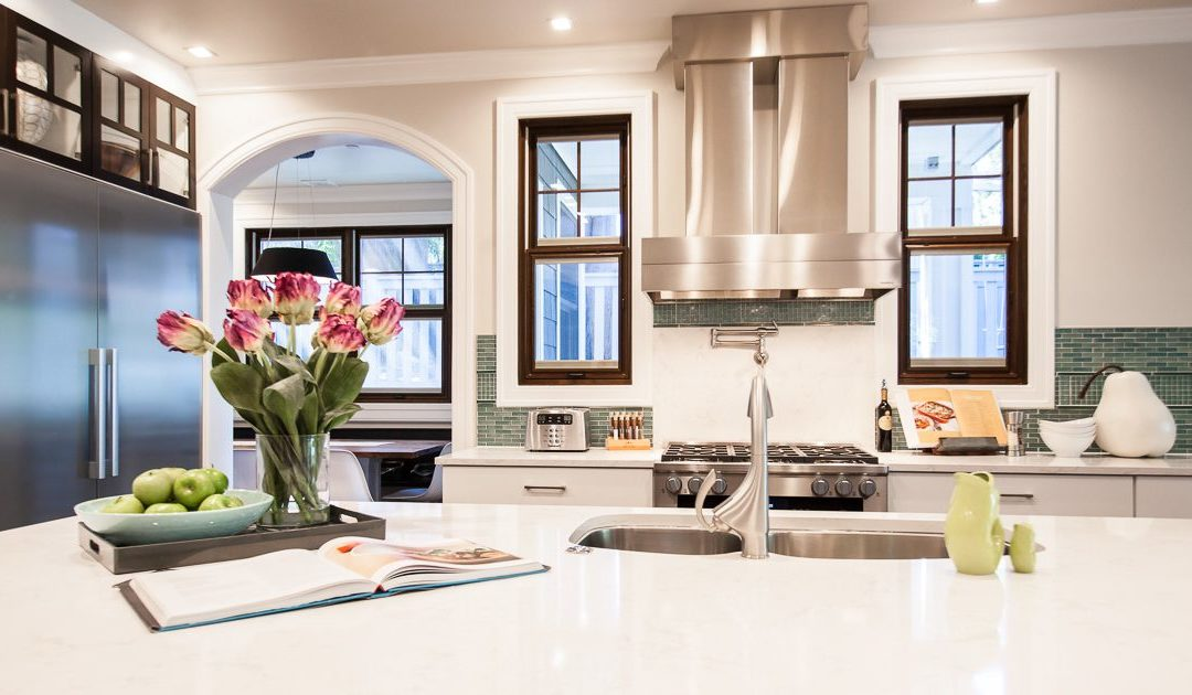 Transitional Green Build Kitchen