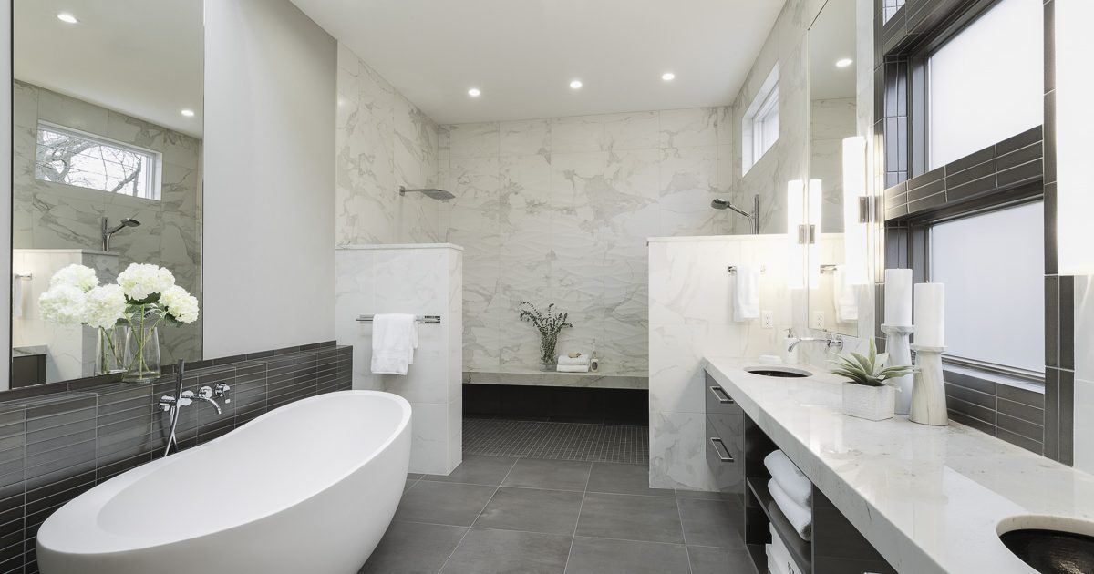 Sleek and Inviting Modern Luxury Master Bath